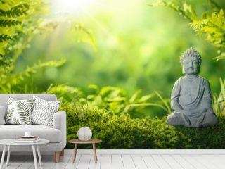 Buddha statu in natural background