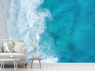 Waves on the beach as a background. Beautiful natural background at the summer time