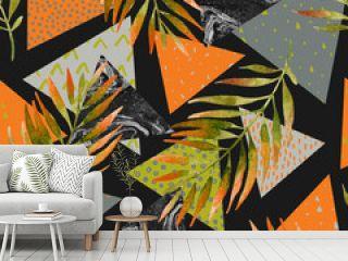 Abstract summer geometric seamless pattern.