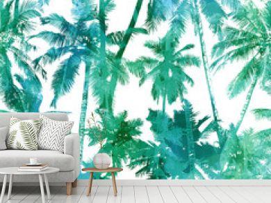 seamless palm pattern