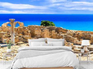 Landmarks of Cyprus island - ancient Kourion archaeological site