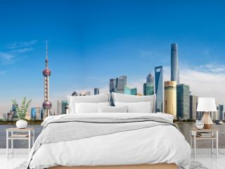 Wide panorama of Cityscape of Shanghai