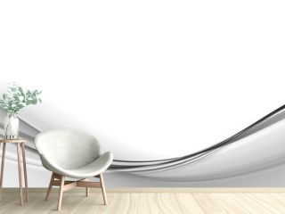 Abstract background for design  with black and white waves
