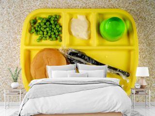 School Lunch Tray Cheeseburger