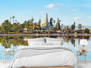 Hala Sultan Tekke Mosque on Salt lake,  Larnaka, Cyprus