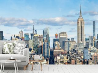 New York Skyline Panorama mit Empire State Building, USA