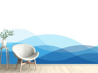 Blue water wave ocean concept abstract vector background