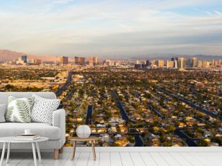 Long Panoramic View Residential Expanse Outside the Strip Las Vegas