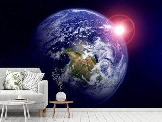 View of planet Earth in space. Elements of this image furnished by NASA