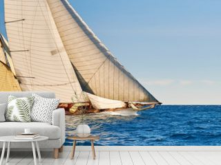 Sailing yachts race. Yachting