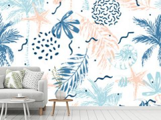 Hand drawn abstract summer beach background
