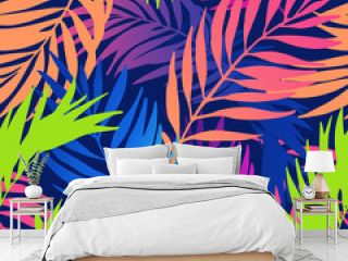 Abstract colorful gradient summer seamless pattern.