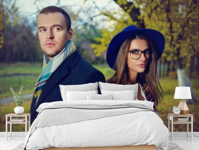 fashionable couple together