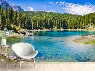 blue mountain lake panorama