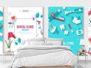 Dentistry posters set