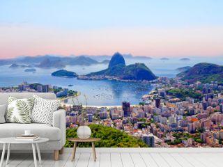 Rio de Janeiro. Brazil. View of the city from mount Corcovado. Corcovado mountain offers magnificent views of the city of Rio de Janeiro.