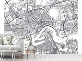 City map Rotterdam, travel vector poster design