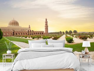 Muscat, Oman, Sultan Qaboos Grand mosque. Sultan Qaboos mosque or Muscat Cathedral mosque is the main operating mosque of Muscat, Oman.