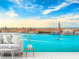 Venice Grand Canal aerial view. Italy