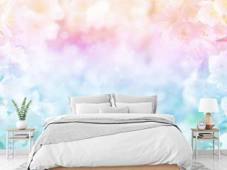 Floral spring background. Bright natural background. Background with jasmine flowers in the sunlight