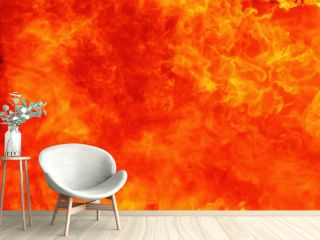 Background of fire flame as a symbol of hell and eternal torment.