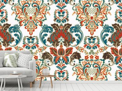 Vintage floral seamless patten. Classic Baroque wallpaper. seamless vector background