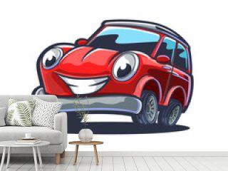 red sport car cartoon