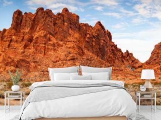 Valley of Fire Sandstone Mountain Landscape