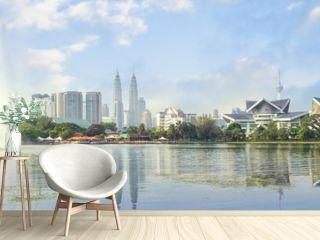 Kuala Lumpur, Malaysia panorama skyline at Titiwangsa Park