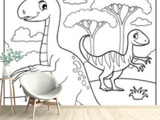 Coloring book dinosaur subject image 4