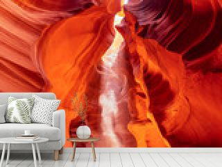 Magical und colorful Antelope Canyon. Ghost and Phantom. Sunlight and sunbeam im famous Canyon Antelope.