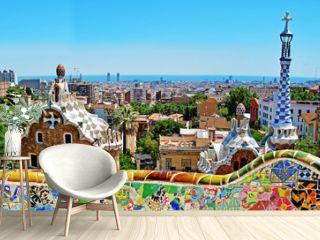Park Guell by Antonio Gaudi, Barcelona, Spain