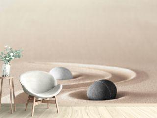 zen garden meditation stone