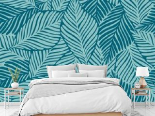 Summer nature jungle print. Exotic plant. Tropical pattern, palm leaves seamless
