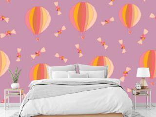 Cute ballons modern kids pattern design
