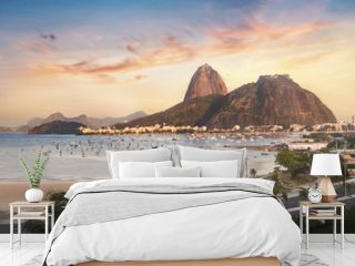 Botafogo, Guanabara Bay and Sugar Loaf Mountain at sunset - Rio de Janeiro, Brazil