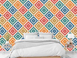 Aztec like style pattern illustration