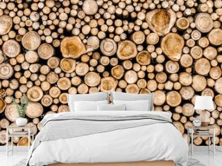 stacked wood logs.