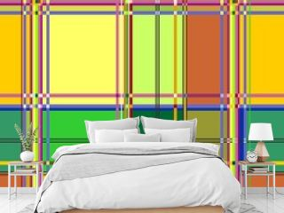 Caribbean Colorful Fabric Madras Vector Seamless Pattern Texture