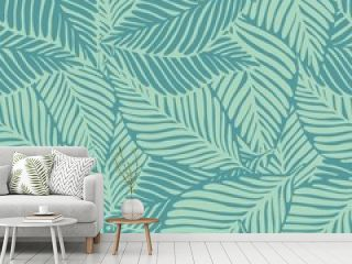 Abstract exotic plant seamless pattern. Tropical pattern,