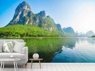 Landscape jiatianxia guilin, lijiang river on the mountain.The landscape of near guilin, yangshuo county, guangxi, China