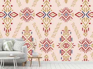 African Ethnic Vector Seamless Pattern