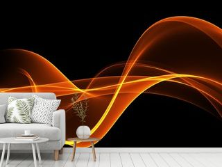 Abstract Orande waves background. Template design
