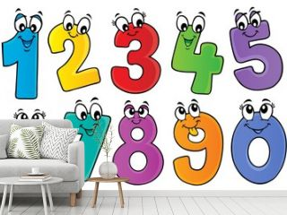 Cartoon numbers theme set 1