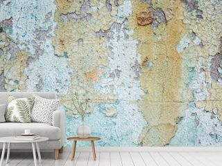 wall with colorful dirty cracked texture