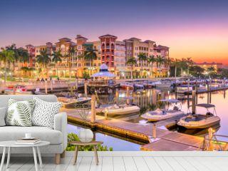Naples, Florida, USA Town Skyline