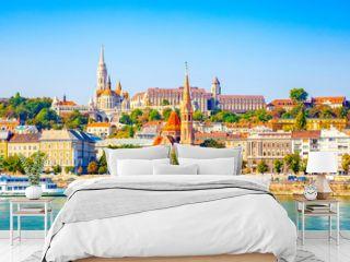 Budapest skyline - Buda castle and Danube river