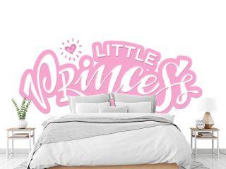 Little prince Little Princess - cute hand drawn doodle lettering label art poster banner