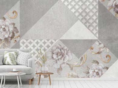 digital colorful wall tile design for washroom and kitchen