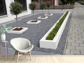 ein moderner Vorgarten